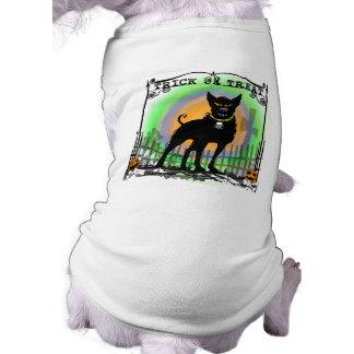 Dog Tshirt - Halloween Trick or Treat Evil Dog