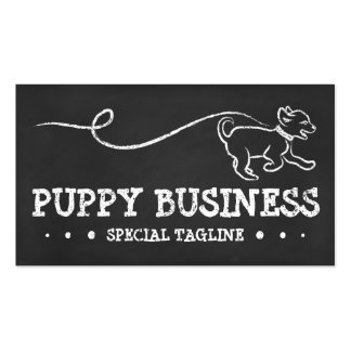 DOG WALK CHALK Double-Sided STANDARD BUSINESS CARDS (Pack OF 100)