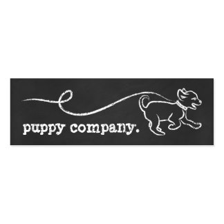 DOG WALK CHALK loyalty program Pack Of Skinny Business Cards