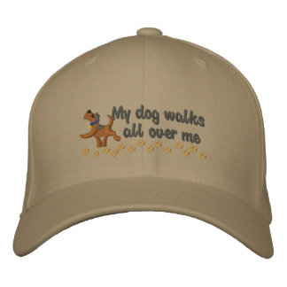 Dog Walk Embroidered Hats
