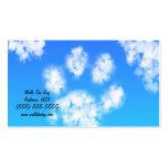 Dog Walk Pet Sitter Business Cards Paw Print Cloud