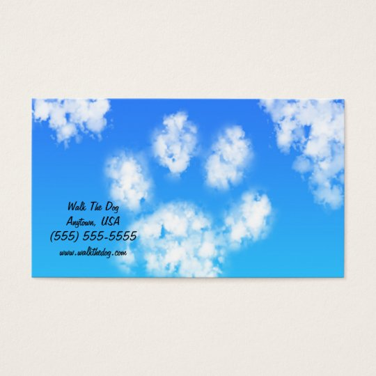 Dog Walk Pet Sitter Business Cards Paw Print