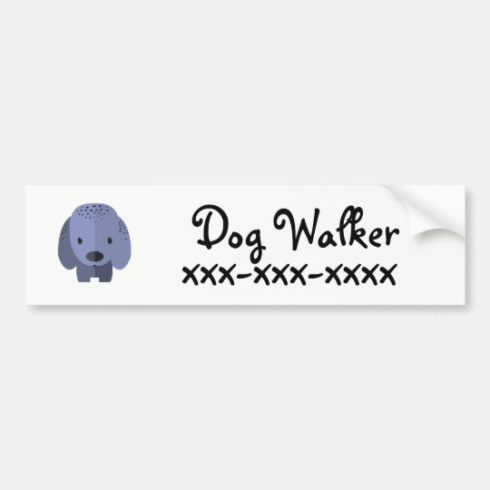 Dog Walker Bumper Sticker