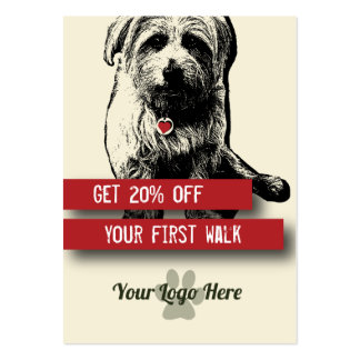 Dog Walker Business Cards - Personalise all text