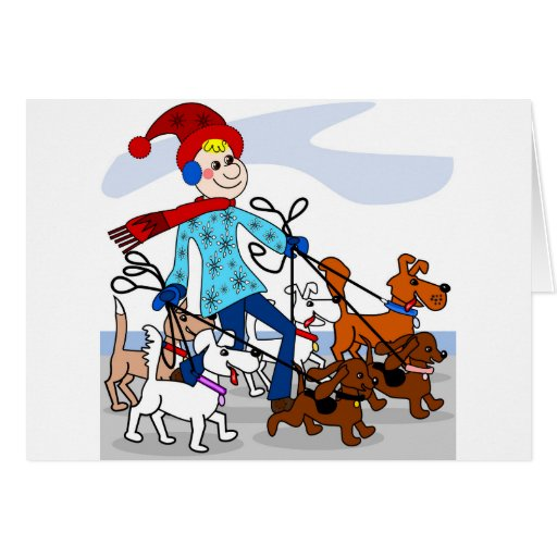Dog walker card