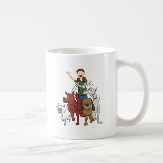 Dog Walker Cartoon Coffee Mug