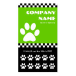 dog walker checkers punchcard pack of standard business cards