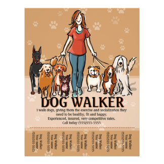 Dog Walking Poster Template Exol Gbabogados Co