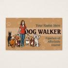 Dog Walker Fully customisable business card