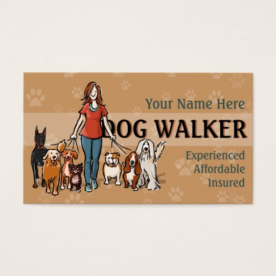 Dog Walker Fully customisable business card