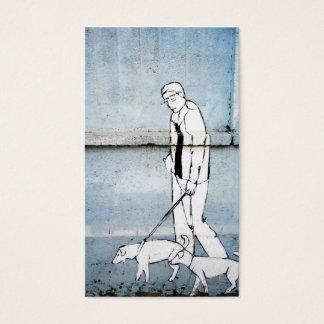 dog walker graffiti
