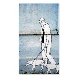 dog walker graffiti pack of standard business cards