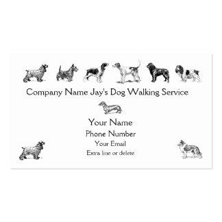 Dog Walker Groomer Pet Care Service Custom Company Pack Of Standard Business Cards