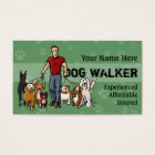 Dog Walker. Guy. Fully customisable business card