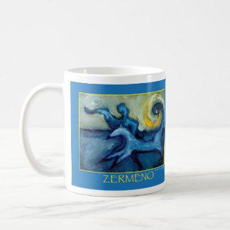 Dog Walker (Image wrap around) by Zermeno Classic White Coffee Mug