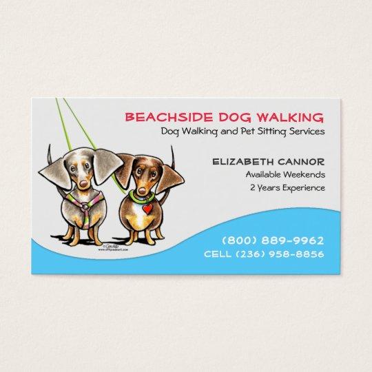 Dog Walker Pet Business Cool Carribean Business Card