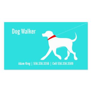 Dog Walker Pet Business Lab Modern Coastal Business Cards