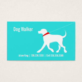 Dog Walker Pet Business Lab Modern Coastal Business Card