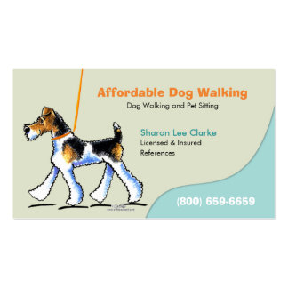 Dog Walker Pet Business WFT Double-Sided Standard Business Cards (Pack Of 100)