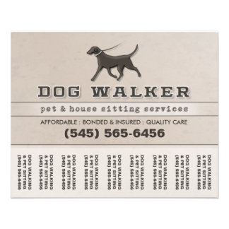 Dog walking flyers leaflets for Puppy for sale flyer templates