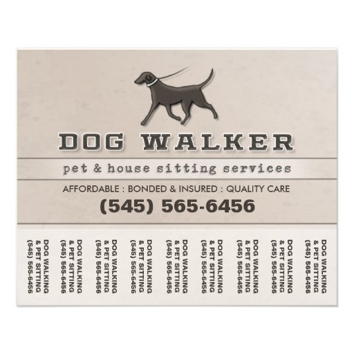dog sitting flyer template