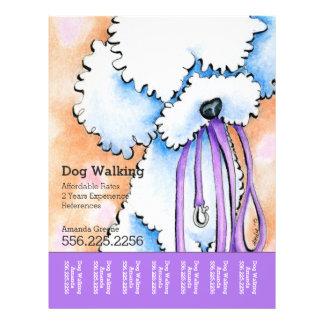 Dog Walker Poodle Purple Personalized Tear Sheet 21.5 Cm X 28 Cm Flyer