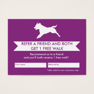 Dog Walker Referral Card - Personalizable