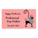 Dog Walker Retro Modern 50s Poodle Pet Walking Pack Of Standard Business Cards