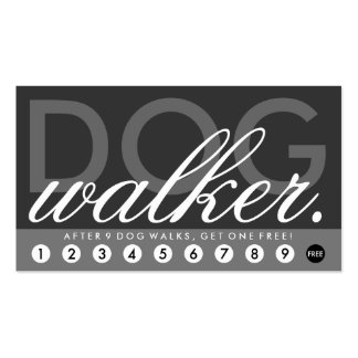 dog walker rewards program pack of standard business cards