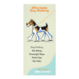 Dog Walker Sitter Business Rate Card Full Colour Rack Card