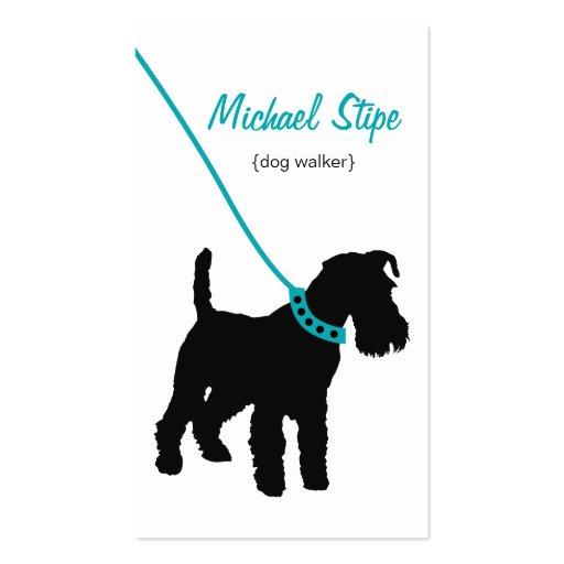 Dog Walker (teal) Business Card