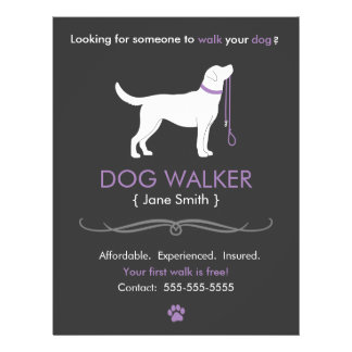 Dog walking flyers leaflets for Dog walking flyer template free