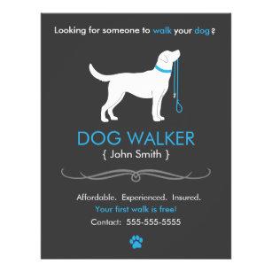 dog walking flyers leaflets zazzle co uk