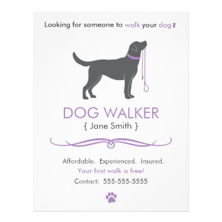 Dog Walker/Walking Business Flyer Template