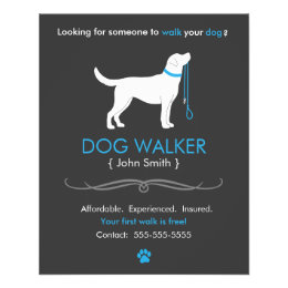 Dog walking flyers leaflets for Walking certificate templates