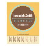 Dog Walker Walking Leash Loop Blue Tear Sheet Full Color Flyer