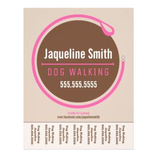 Dog Walker Walking Leash Loop Pink Tear Sheet 21.5 Cm X 28 Cm Flyer