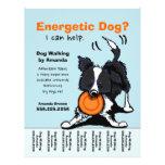 Dog Walker Walking Personalised Tear Sheet 21.5 Cm X 28 Cm Flyer