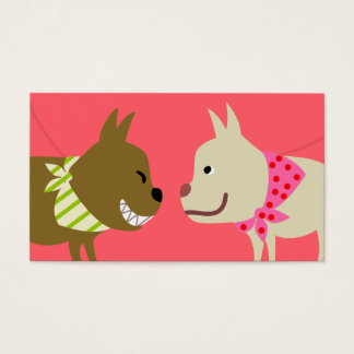 Dog Walker's Bandanna Dogs Business Card