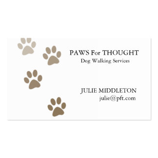 Dog Walkers business card