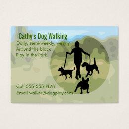 Professional dog walker business cards business card printing dog walking business card colourmoves