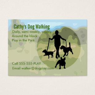 Dog walking business cards business card printing zazzle uk dog walking business card colourmoves