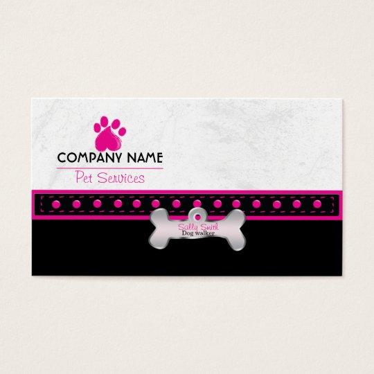 Dog walking business cards