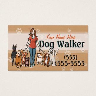 Dog Walking Dog Walker Training Female Promo Card