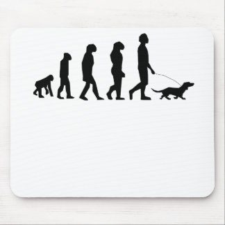Dog Walking Evolution Mouse Mat