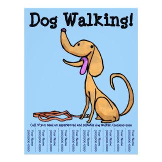 dog walking flyers leaflets. Black Bedroom Furniture Sets. Home Design Ideas