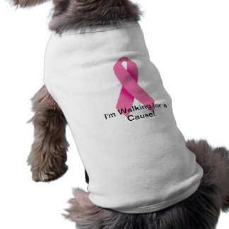 Dog Walking for a Cure White Sleeveless Dog Shirt