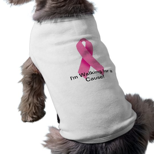 Dog Walking for a Cure White Sleeveless Dog