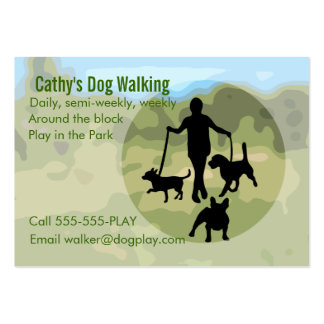 Dog Walking Pack Of Chubby Business Cards