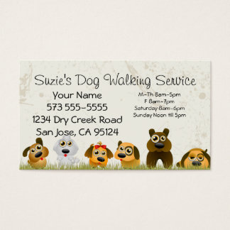 Dog Walking Service Business Card